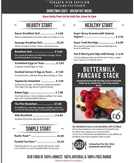 Penarth Cafe Menu