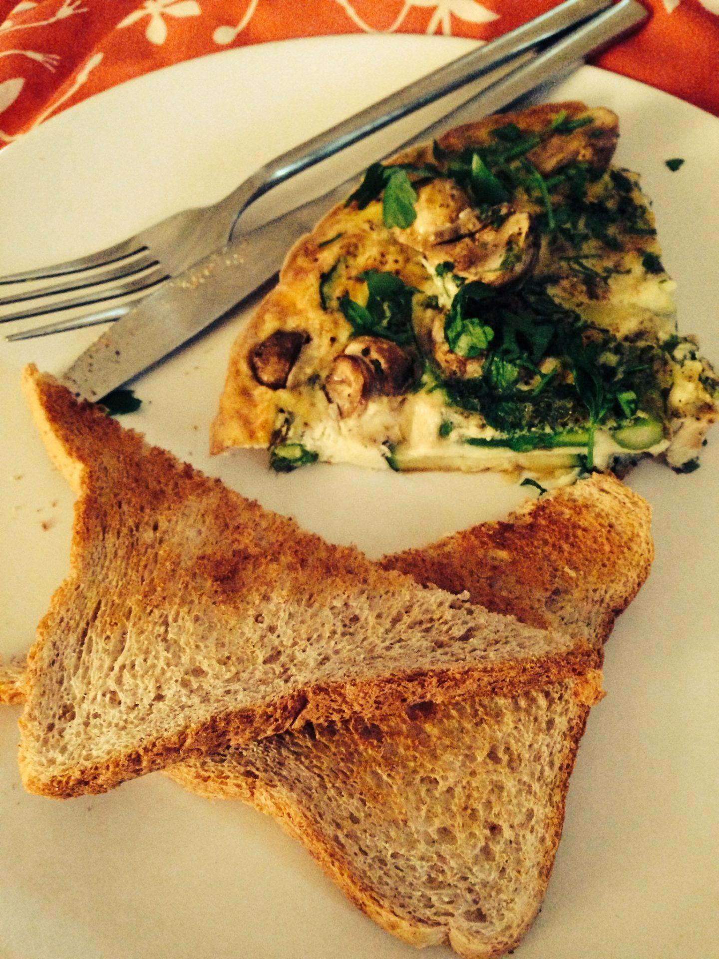 Recipe: Mushroom, Courgette & Asparagus Frittata