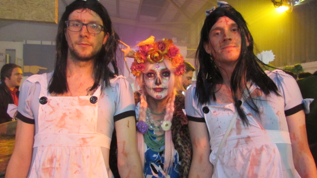 Halloween revellers at The Depot