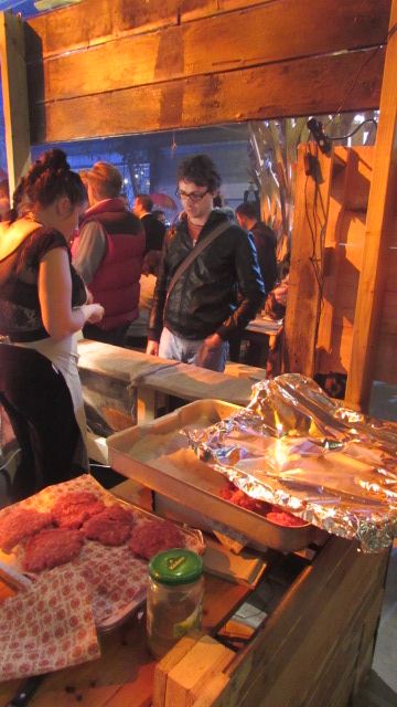 Burgers in assembly at The Depot