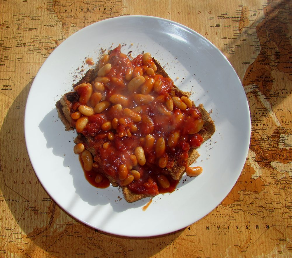BBQ Beans on toast