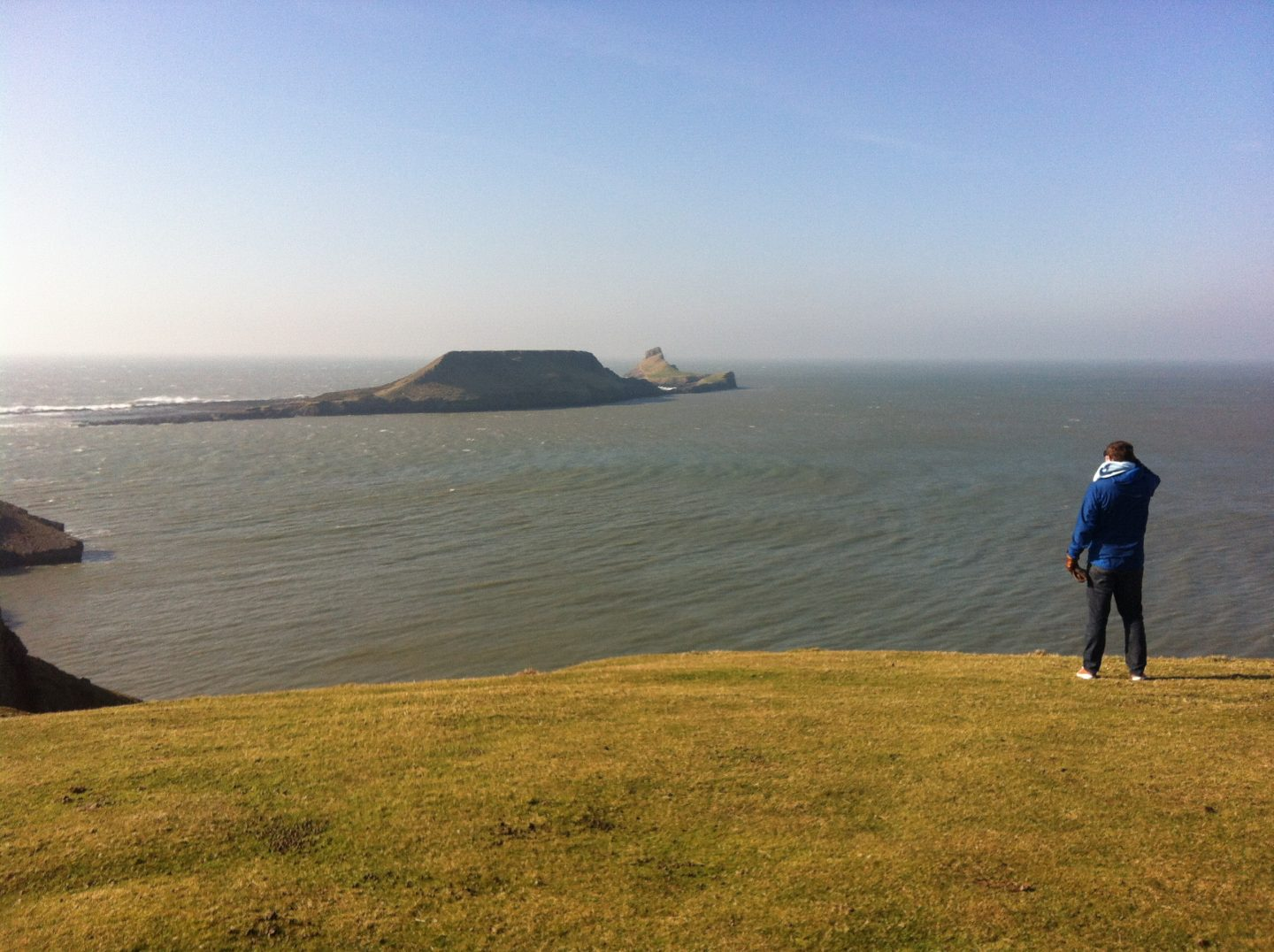 Looking out to Worm's Head