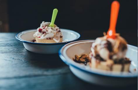 Summer dessert pies at Pieminister Cardiff