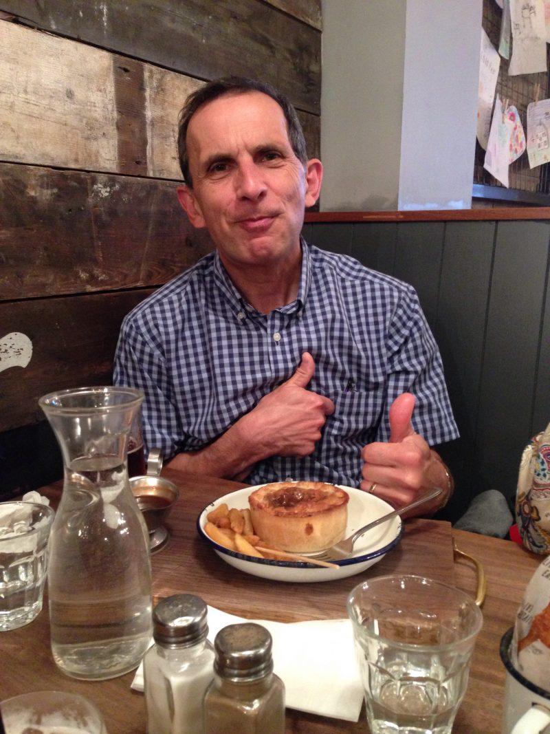 Man with pie