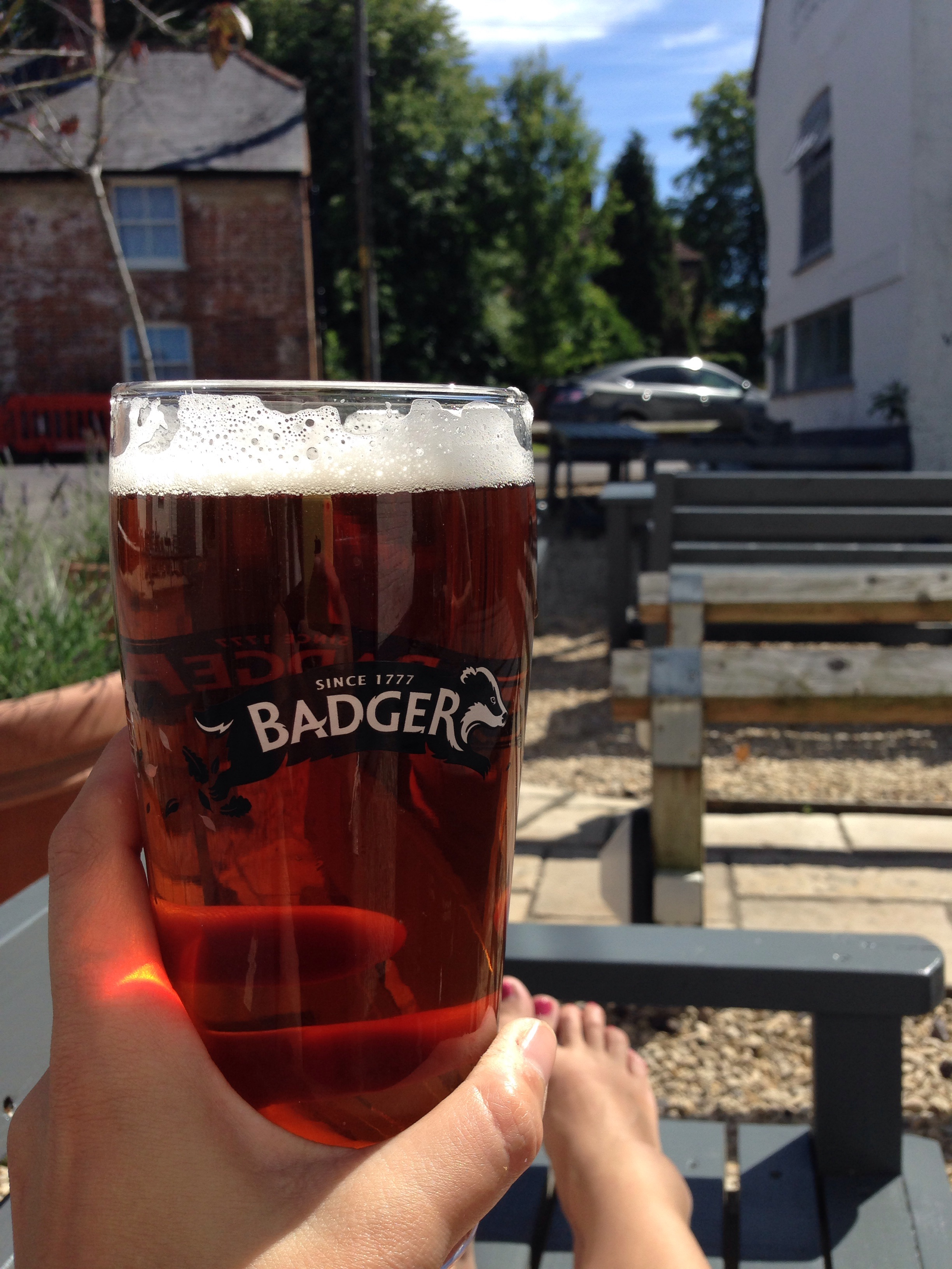 A pint of the local brew in Cranbourne