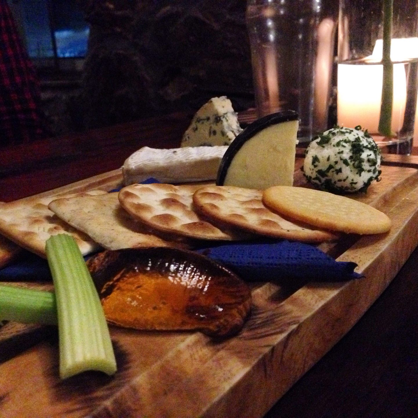 The cheese board at The Ship Inn, Port Eynon